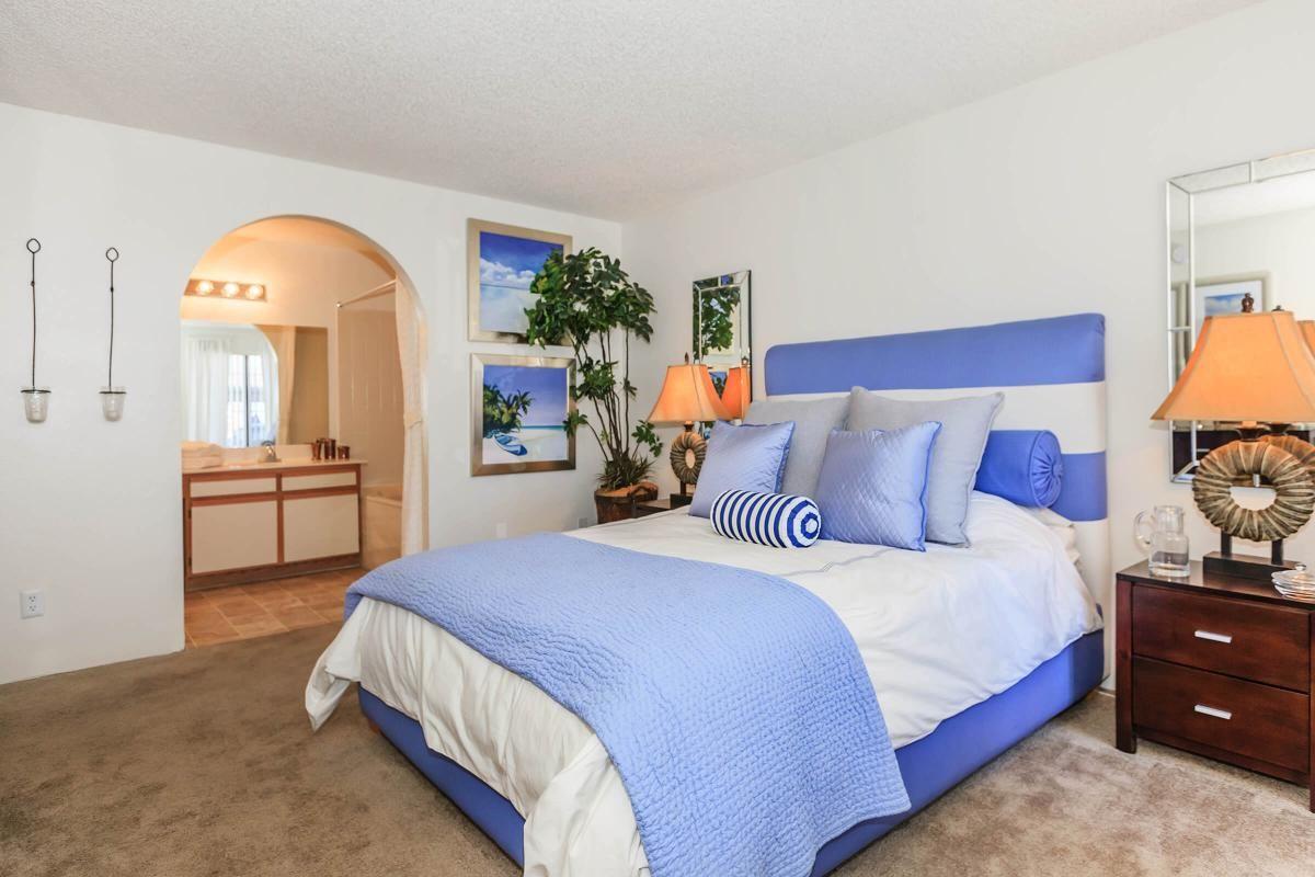 COMFORTABLE BEDROOM AT CANYON CREEK VILLAS IN LAS VEGAS, NEVADA