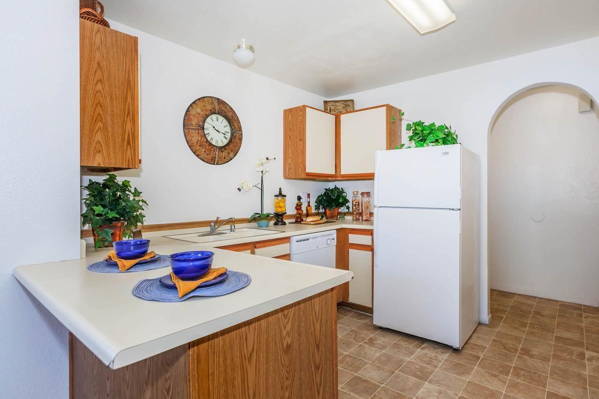 MODERN KITCHEN AT CANYON CREEK VILLAS IN LAS VEGAS, NEVADA