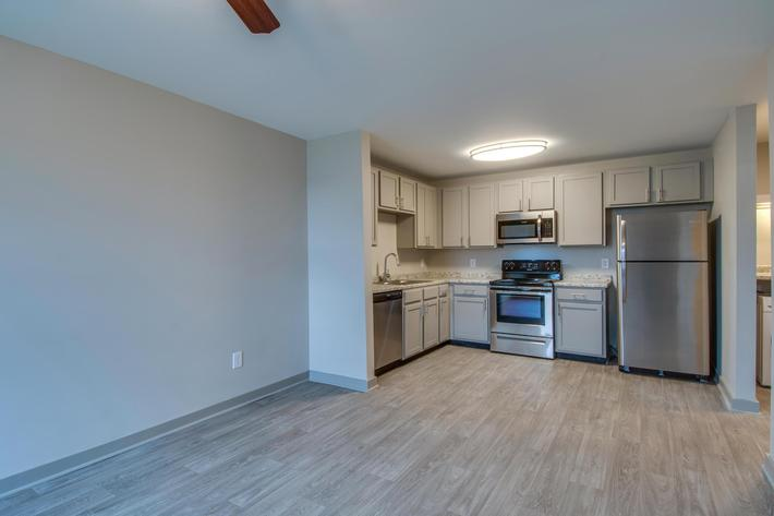Living, dining, kitchen spacial area