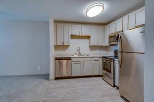 Select homes offer gray cabinetry