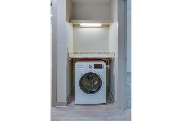 One Bedroom Apartment Laundry