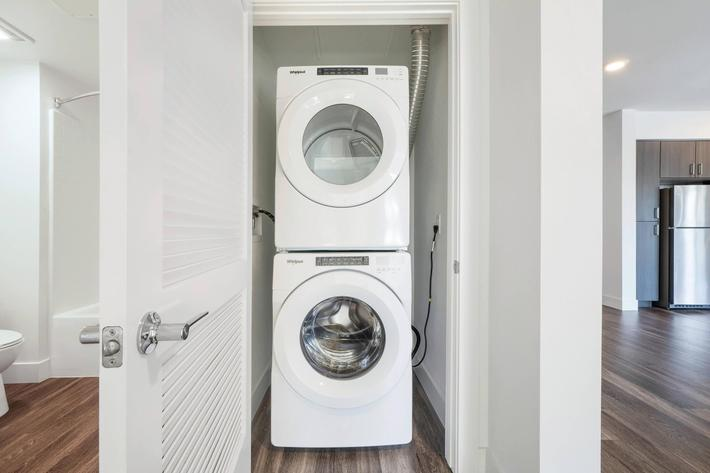FULL-SIZE IN-HOME WASHER AND DRYER