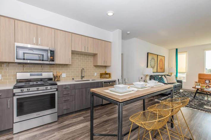 STAINLESS STEEL APPLIANCES IN APARTMENTS IN SAN JOSE
