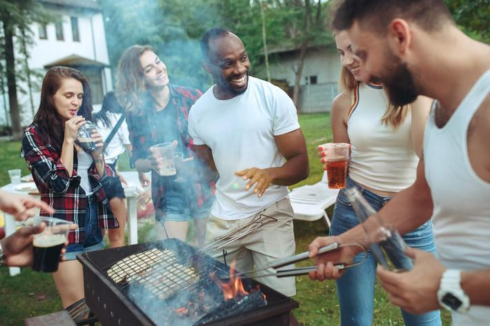Barbecue with Friends at Belle Forest at Memorial