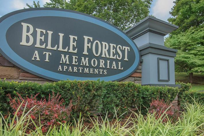 Belle Forest at Memorial Monument Sign