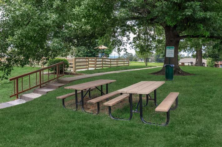 Enjoy picnics at Belle Forest at Memorial