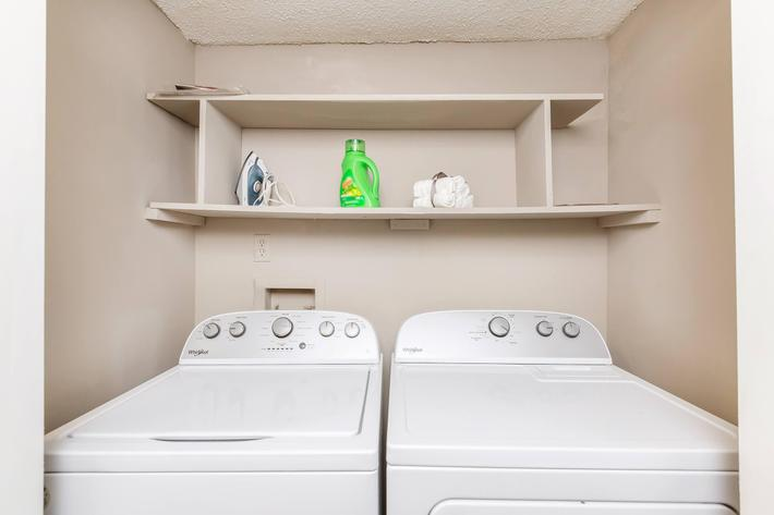 Laundry Room at The Huntington at Sussex Downs in Franklin, TN