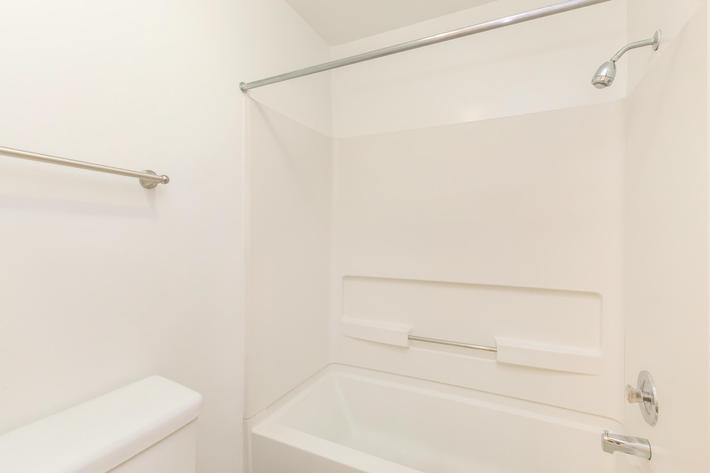 Sleek Bathrooms Here at Woodbridge Farmhouse at Sussex Downs in Franklin, TN