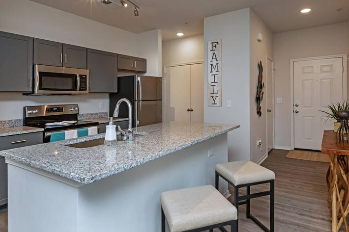 Beautiful Kitchen Island At New Providence Park In Wilmington, NC