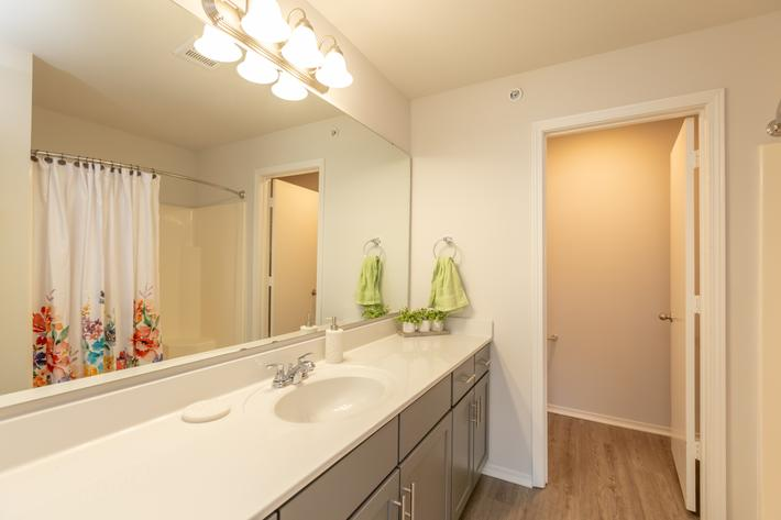 Spacious Bathroom Counters At New Providence Park In Wilmington, NC