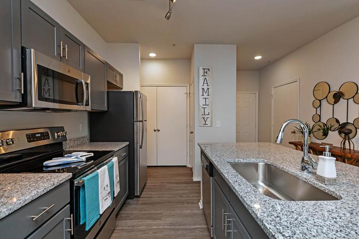 Spacious Kitchen with Pantry At New Providence Park In Wilmington, NC
