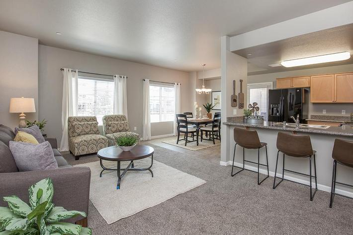 Two Bedroom Floor Plan at Vintage Park