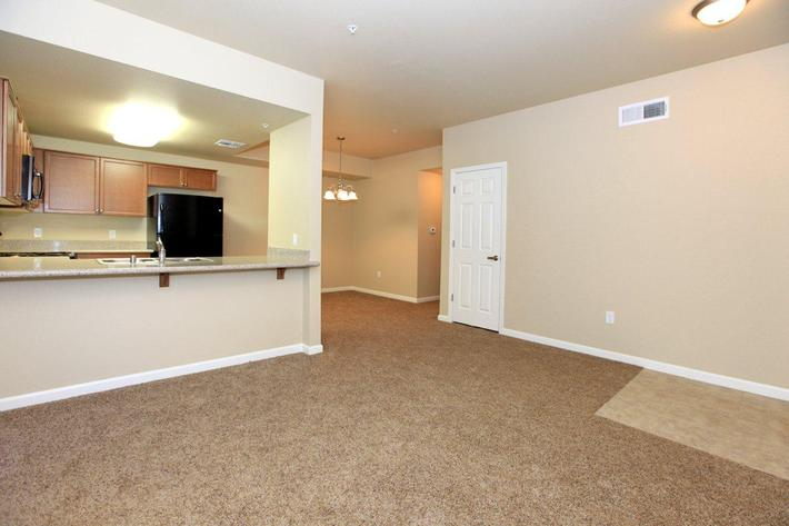 This is the one bedroom floor plan at Greystone Apartments