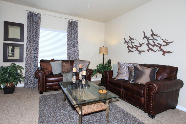 Greystone Apartments offers spacious living rooms