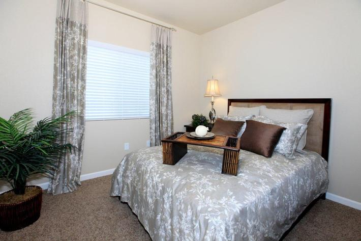The bedrooms at Greystone Apartments have lots of natural light