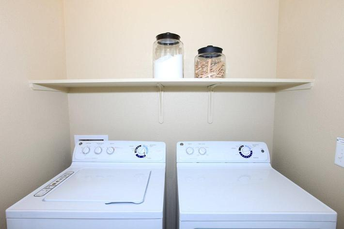 We have in-home washers dryers at Greystone Apartments