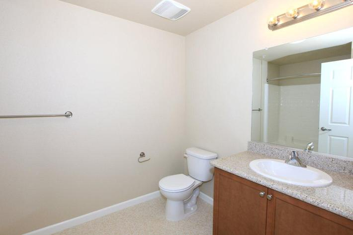 Contemporary bathrooms at Greystone Apartments