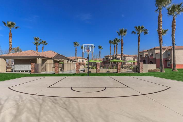 This is the basketball court at Rio Paseo