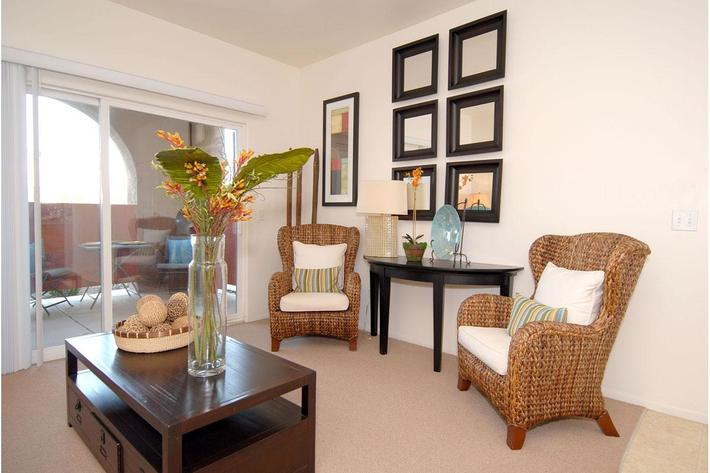 Rio Paseo provides personal balconies or patios