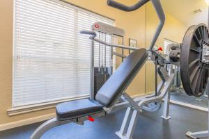 Fully equipped fitness center with exercise machines