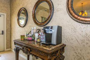 Lobby entrance with coffee machine