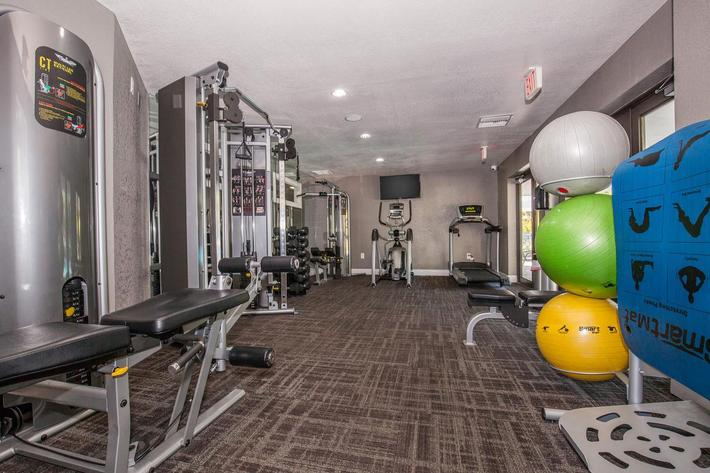 Get fit in the state-of-the-art fitness center at Arbor Oaks Apartments in Bradenton, Florida.