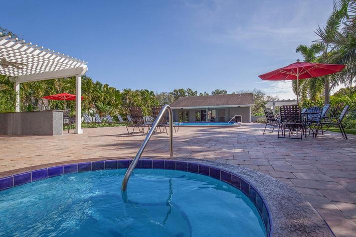 Relax in the spa at Arbor Oaks Apartments in Bradenton, Florida.