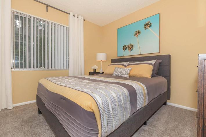 Comfy bedrooms at Arbor Oaks Apartments in Bradenton, FL.