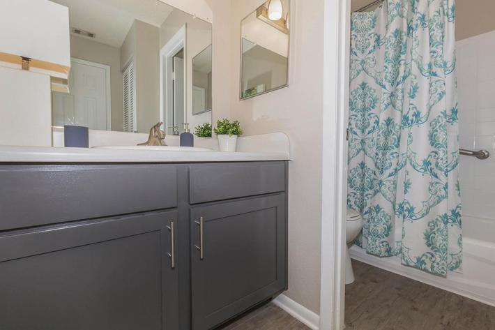 Modern bathrooms at Arbor Oaks Apartments in Bradenton, Florida.