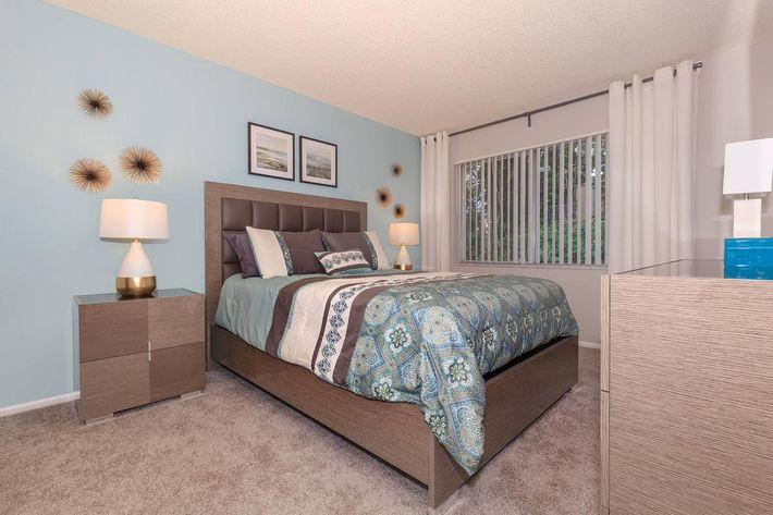 Plush carpet flooring at Arbor Oaks Apartments in Bradenton, FL.