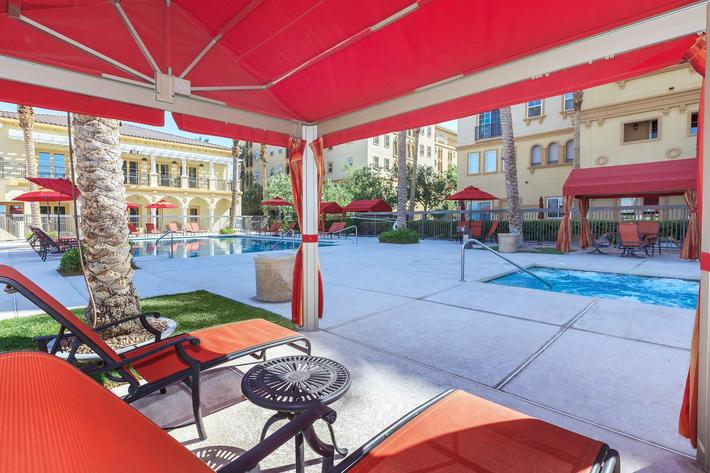 RELAX UNDER THE CABANA AT BOCA RATON IN LAS VEGAS, NEVADA