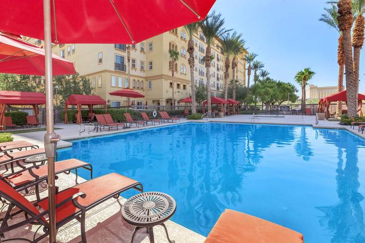 UNWIND BY OUR SHIMMERING SWIMMING AT BOCA RATON IN LAS VEGAS, NEVADA