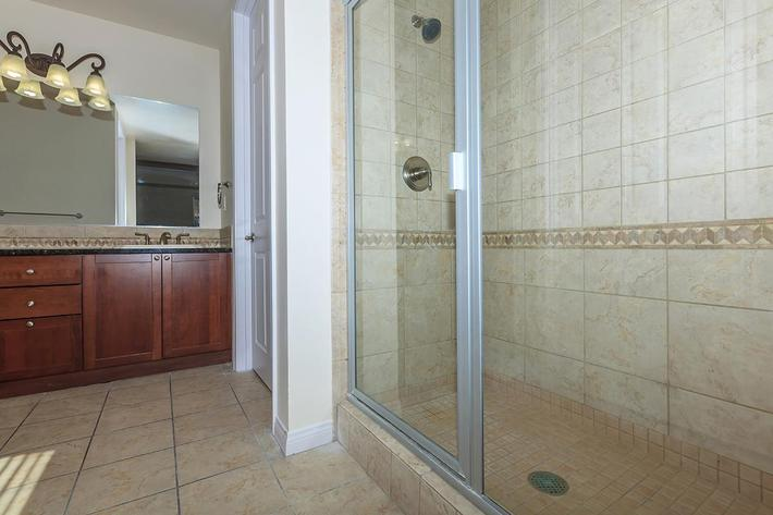 ROOMY SHOWER AT BOCA RATON IN LAS VEGAS, NEVADA