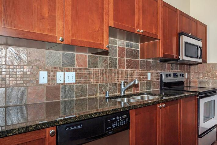 Kitchen Tile back splash at Boca Raton