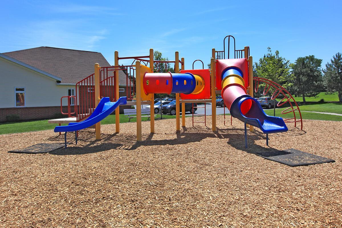 CHILDREN'S  PLAY AREA AT GREECE COMMONS