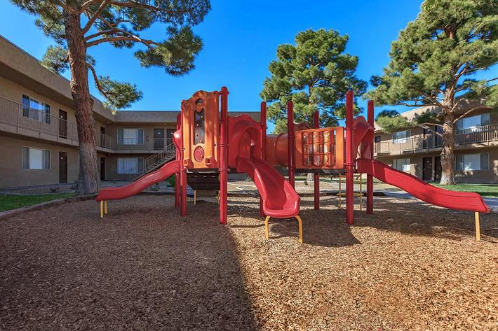 CHILDRENS PLAY AREA AT BELLA ESTATES APARTMENT HOMES IN LAS VEGAS, NEVADA