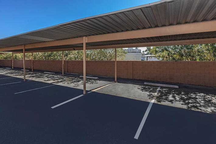 COVERED PARKING AT BELLA ESTATES APARTMENT HOMES IN LAS VEGAS, NEVADA