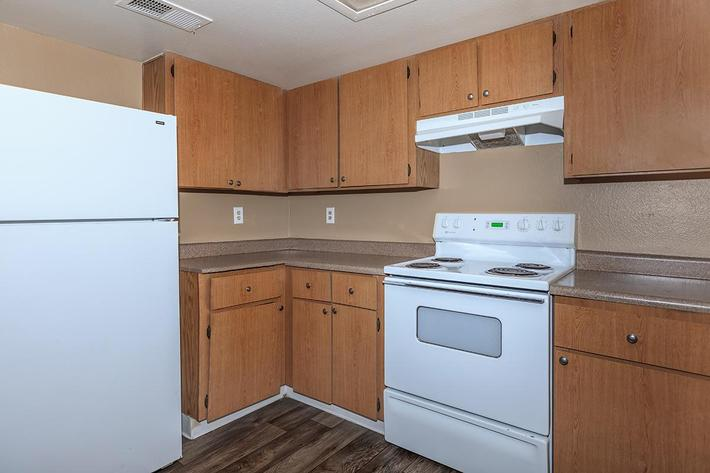 ALL ELECTRIC KITCHEN AT BELLA ESTATES APARTMENT HOMES IN LAS VEGAS, NEVADA