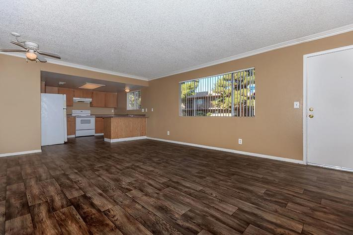 YOUR NEW LIVING ROOM AT BELLA ESTATES APARTMENT HOMES IN LAS VEGAS, NEVADA