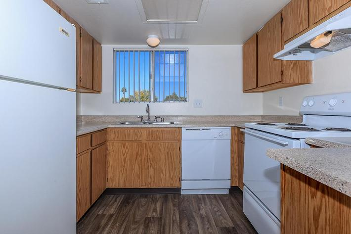 ALL-ELECTRIC KITCHEN AT BELLA ESTATES APARTMENT HOMES IN LAS VEGAS, NEVADA