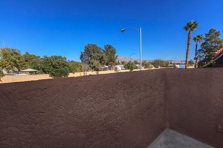 BALCONY OR PATIO AT BELLA ESTATES APARTMENT HOMES IN LAS VEGAS, NEVADA